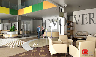 interior lobby design evolver arsitek
