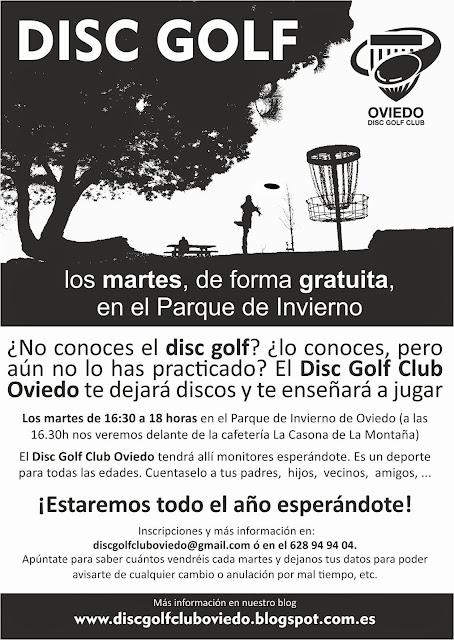 Asturias con niños: Disc-Golf gratis en el Parque de Invierno