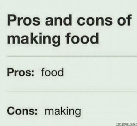 Pros and cons of making food pros is food and cons is making