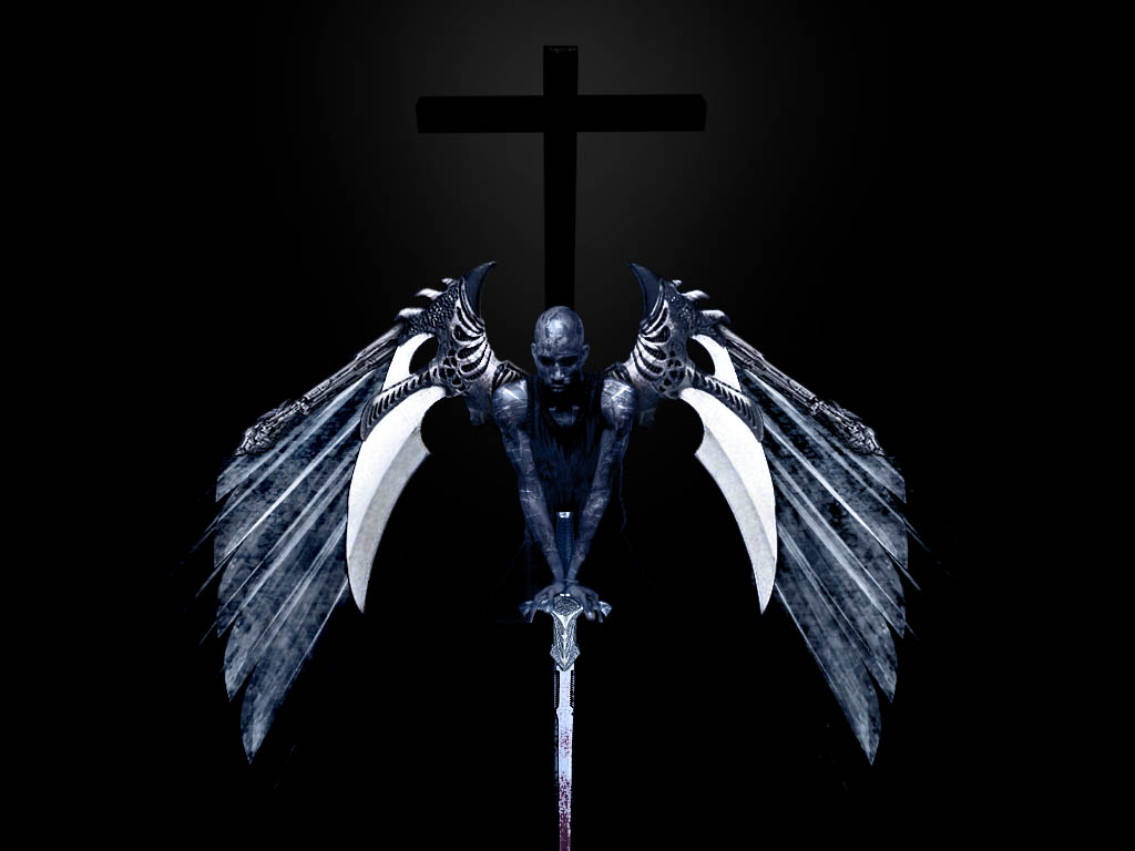 Una taza de te que disfrutar sola y en penumbras - Dark gothic angel wallpaper ...