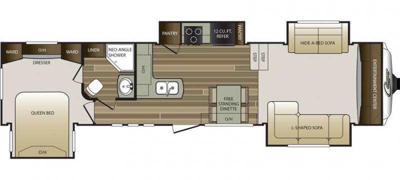 The Cougar 337FLS Is One Of Few Mid Profile Fifth Wheels On Market With A Fantastic Front Living Floor Plan Cougars Are Loaded Features And