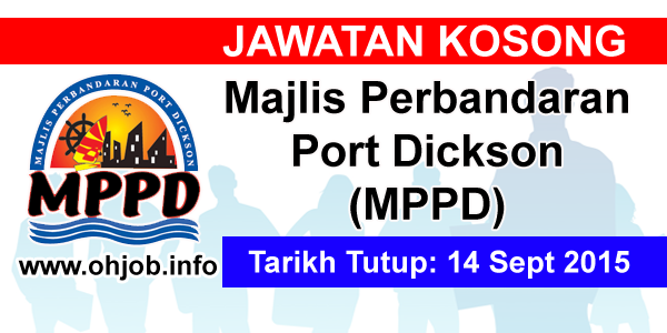 Jawatan Kerja Kosong Majlis Perbandaran Port Dickson (MPPD) logo www.ohjob.info september 2015