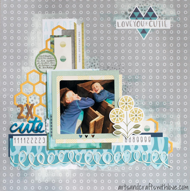 Scrapbooking layout for Sketchabilities: 2 X Cute