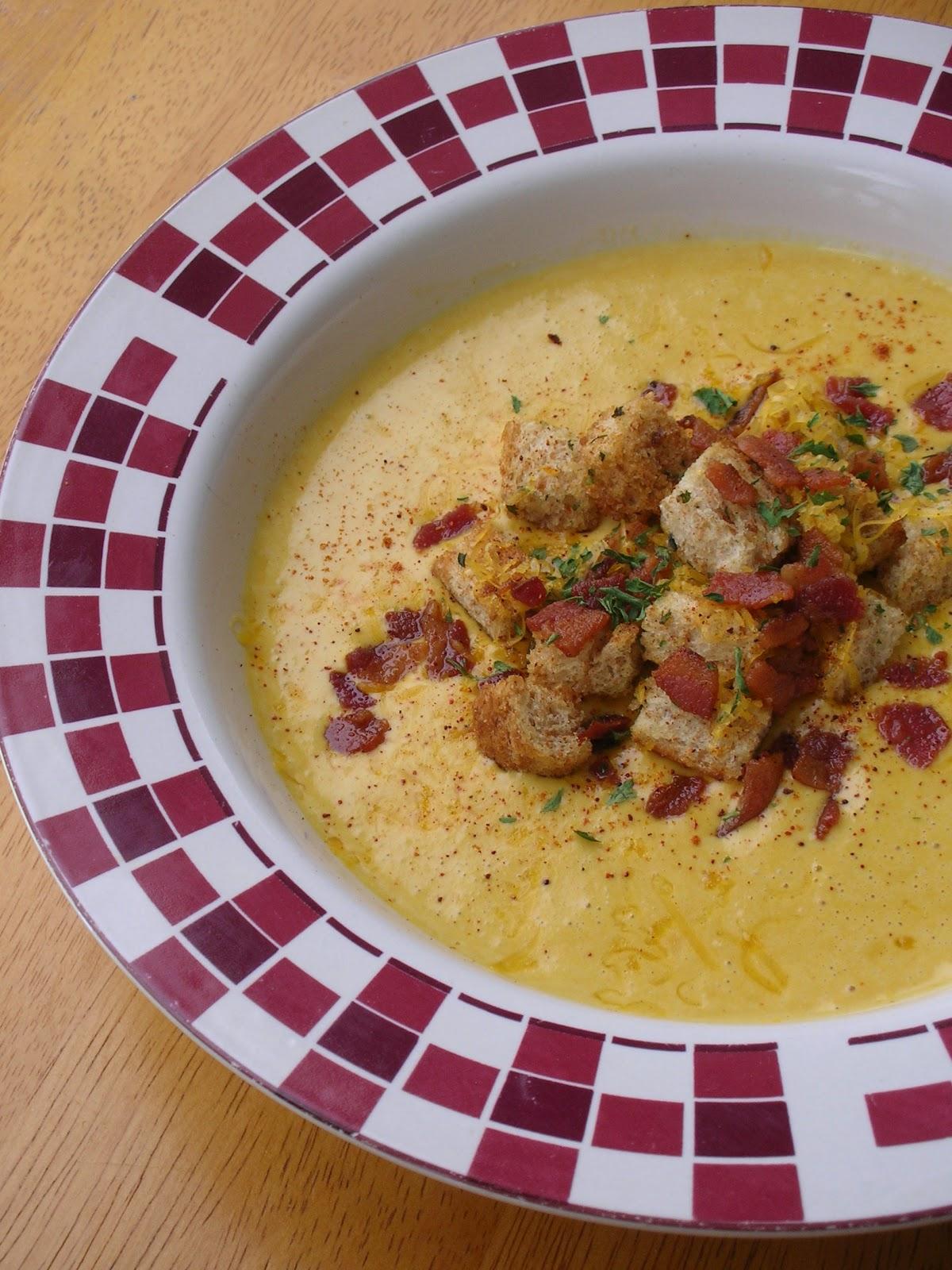 Basil: Cheddar-Ale Soup