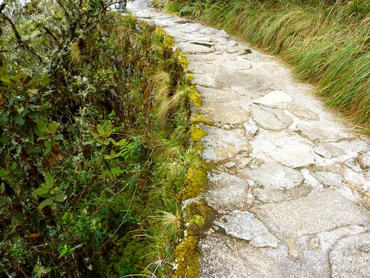 Part of the original Inca Trail to Machu Picchu