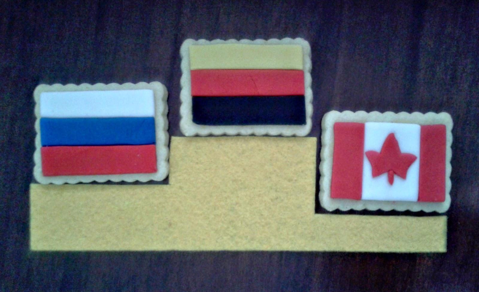 biscotti-bandiere per i mondiali di pattinaggio