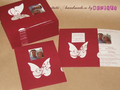invitatii de nunta - plic cartonat cu fereastra poza