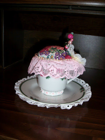 View 2 of my ta cup Pin Cushion