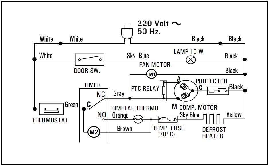 Wiring Diagram Kulkas 2 Pintu Lg : Mister gama