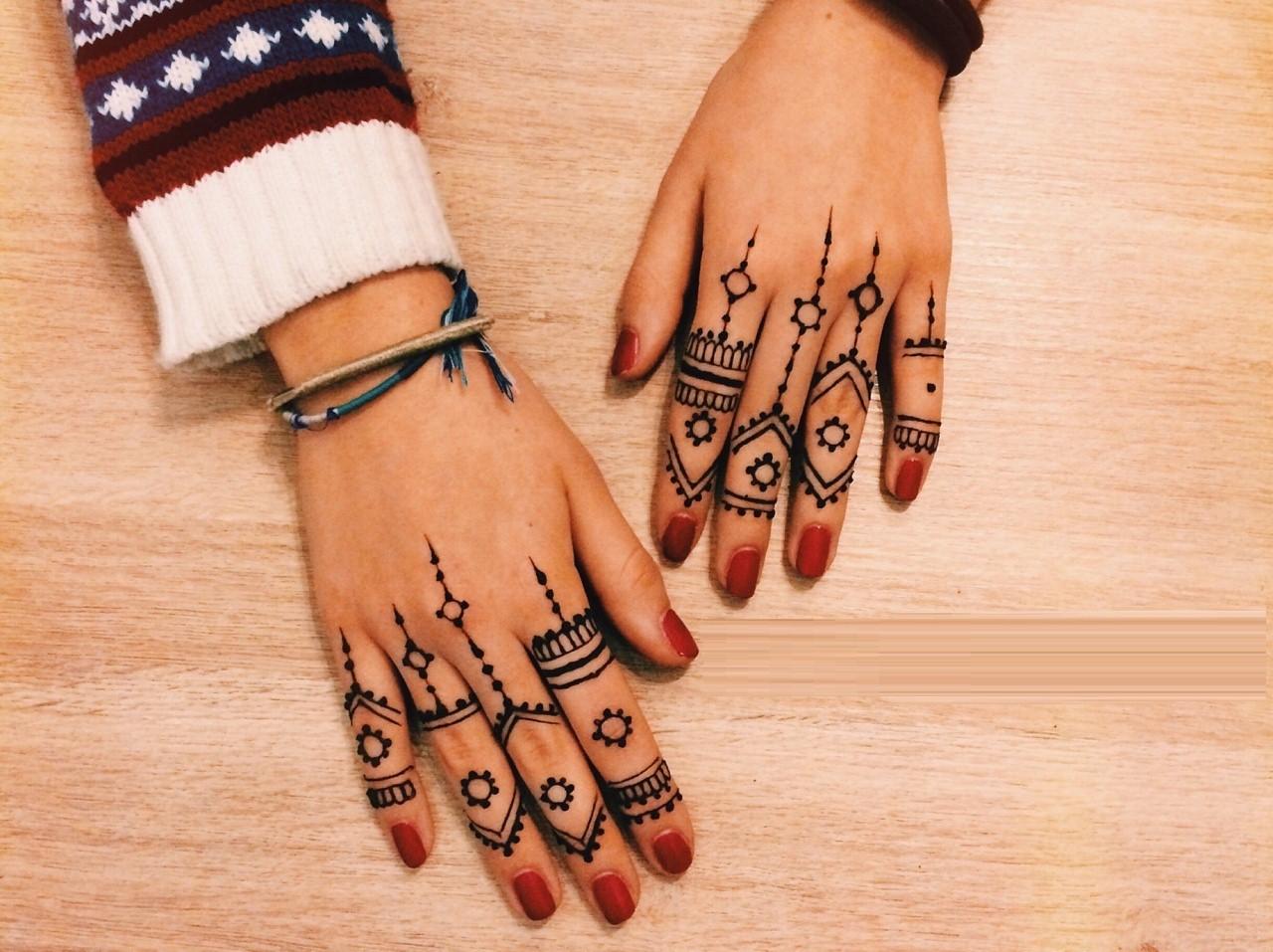 Finger Mehndi Design : Bridal mehndi designs: elegant and unique finger designs