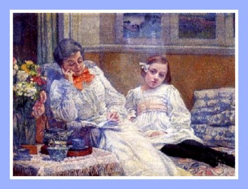 Madame Van Rysselbergue lisant