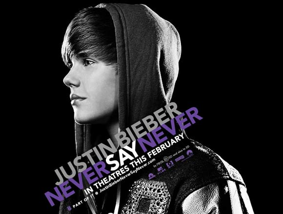 justin bieber never say never 3d movie poster. justin bieber never say never