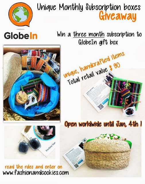 GlobeIn subscription boxes Giveaway on Fashion and Cookies $90 retail value