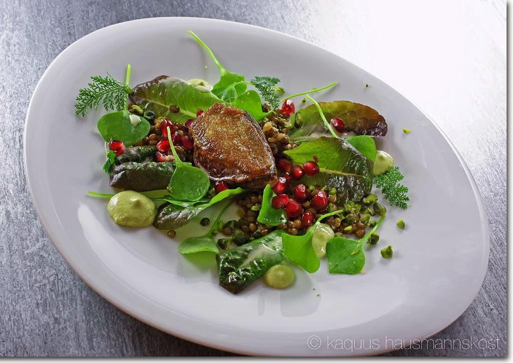 kaquus hausmannskost f r weihnachten ein salat mit taube. Black Bedroom Furniture Sets. Home Design Ideas