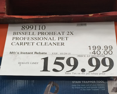 Bissell DeepClean Proheat Professional Pet Carpet Cleaner Model 17n49 at Costco
