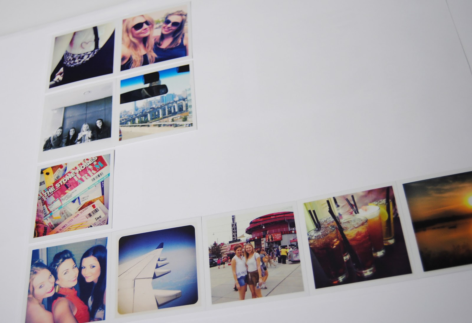 Wall Photo Collage Ideas Without Frames To Fit Into The