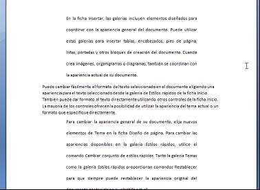 Formato de párrafo repetido