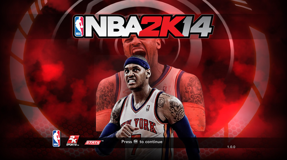 NBA 2K14 Melo Knicks Title Screen Cover Mod