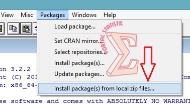 install r from zip windows