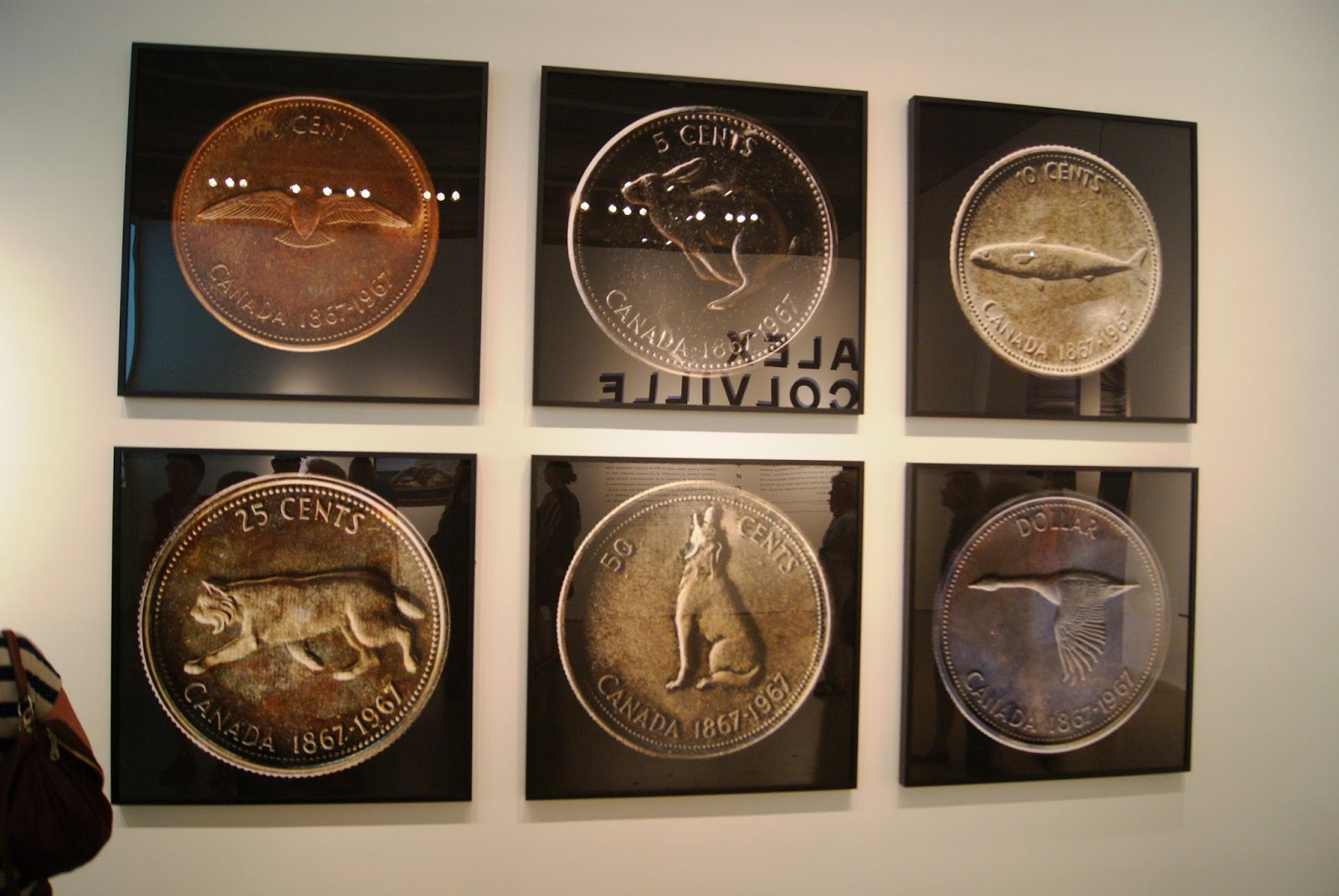 Alex Colville Exhibit at Art Gallery of Ontario in Toronto, Centennial Coins, 2014, paintings, art, artmatters, culture,ontario, Canadian Artist, Painter, Canada, William Eakin