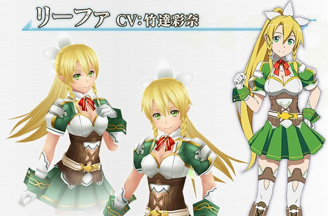 Leafa Sword Art Online Hollow Fragment PS Vita Screen Shot