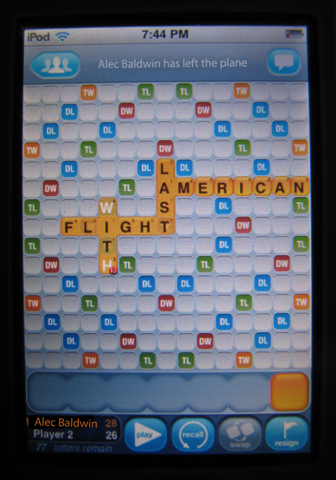 Alec Baldwin words with friends