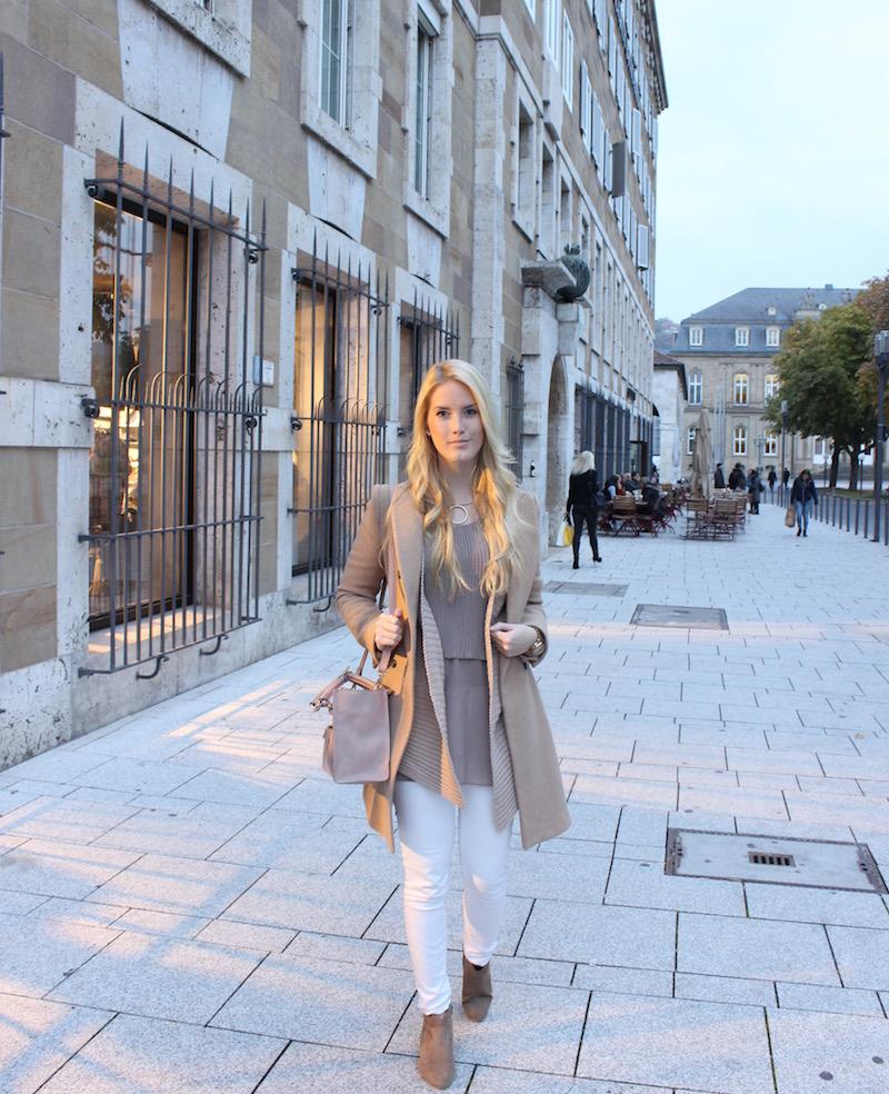 Fashion Look: Material Mix Layering Look für TK Maxx Store Opening Stuttgart