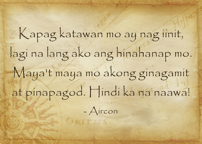 tagalog riddle aircon