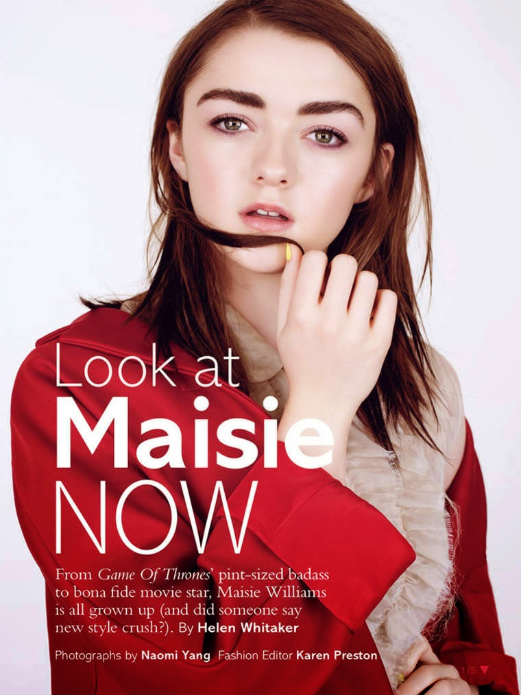 Actress @ Maisie Williams - Glamour UK, May 2015