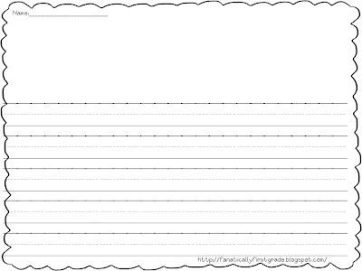 First Grade Letter Writing Paper http://fanaticallyfirstgrade.blogspot ...