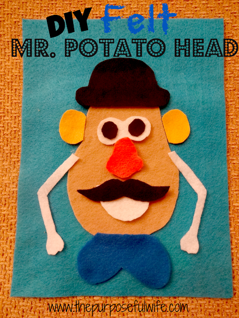 Felt mr potato head for Mr potato head felt template