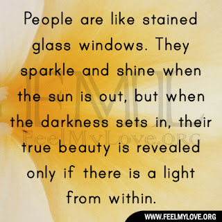 People are like stained