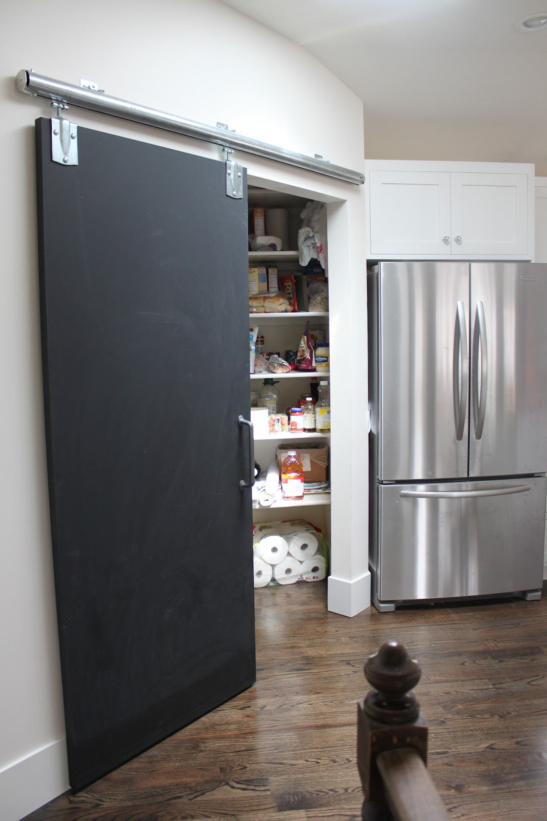 New pantry door installed for Sliding pantry doors