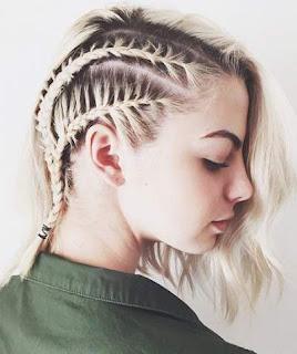 model kepang cantik untuk rambut pendek 456
