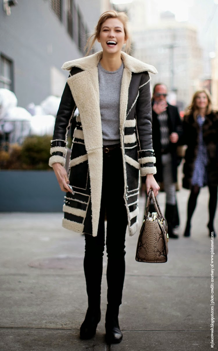 Karlie Kloss Street Style Snapshot - Easy Chic Style With Shearling Coat