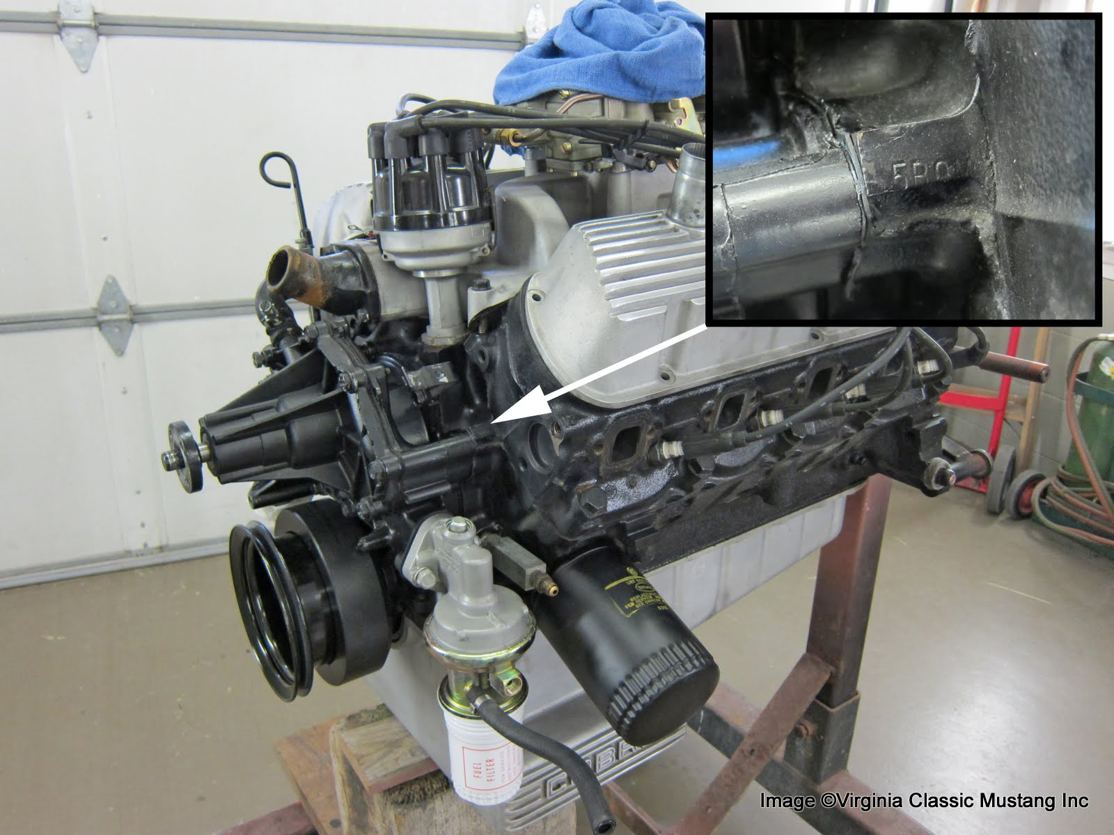 virginia classic mustang blog just the details 289 engine date the engine assembly date is stamped on the pad in front of the lh cylinder head this date would always be later than the casting date of the engine block