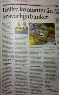 VLT artikel: Hellre kontanter än besvärliga banker