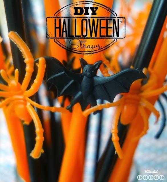 DIY Halloween Straws @ Blissful Roots