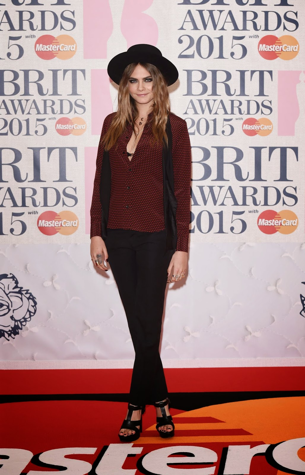 Cara Delevingne – 2015 BRIT Awards in London