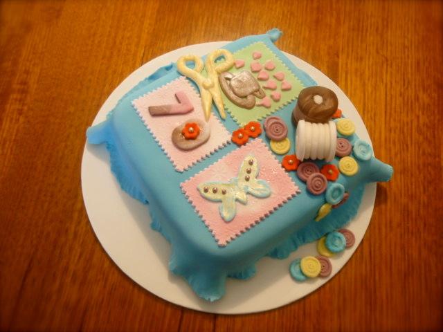 Edible Cake Images Albury : SHORT & SWEET: Patchwork cake [70th]