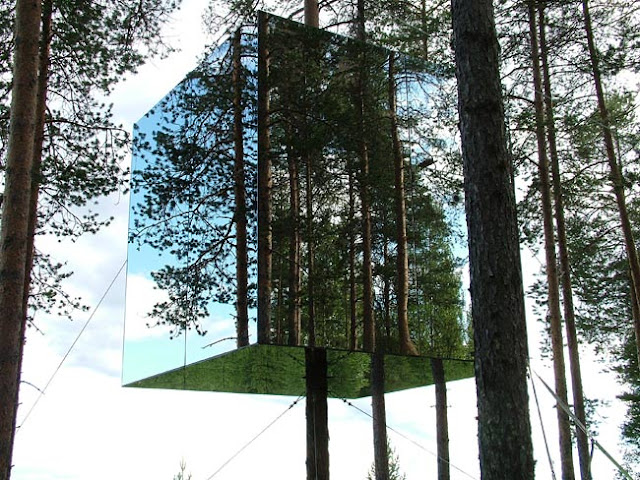 Treehotel, Sweden, Mirrorcube Room