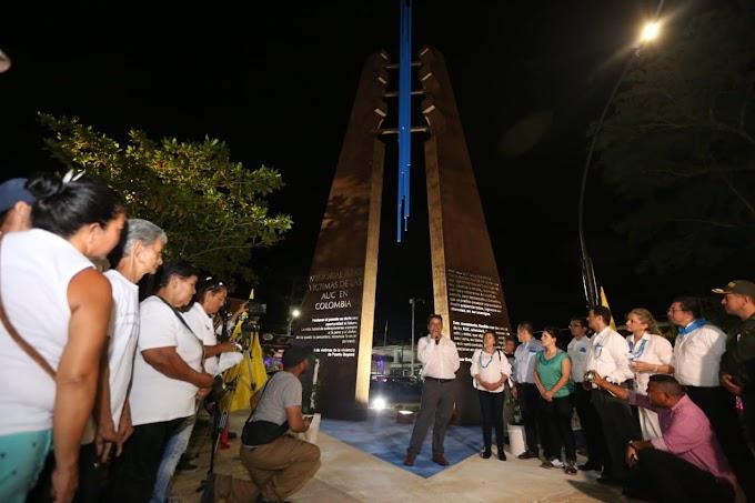 En un día histórico se devela Monumento a las víctimas del paramilitarismo en Puerto Boyacá