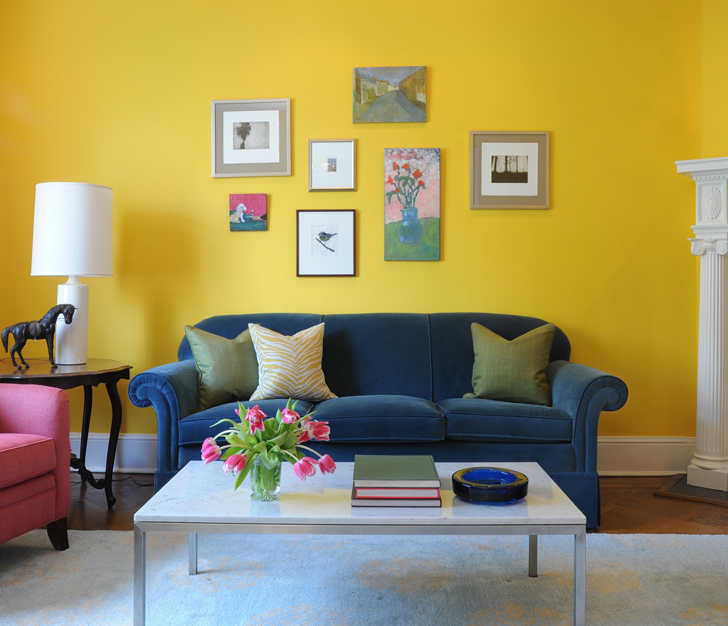 update berita: concept living room decorating ideas yellow walls