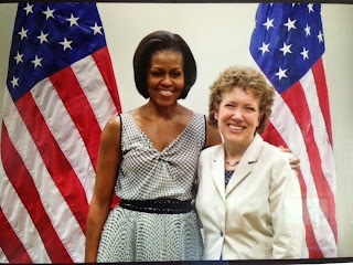 First lady Michelle Obama and Dr. Mockenhaupt.