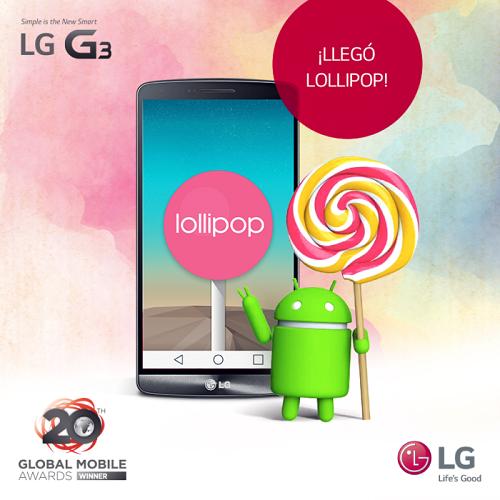 LG G3 CON ANDROID 5.0 LOLLIPOP EN PERÚ