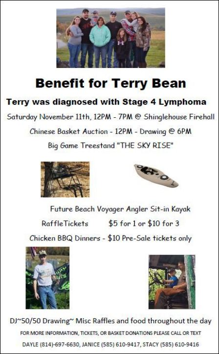 11-11 Terry Bean Benefit, Shinglehouse VFD