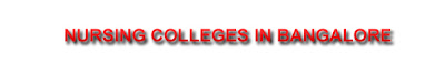 bsc and msc nursing colleges in bangalore
