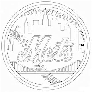 Escudo de los Mets de Nueva York para colorear