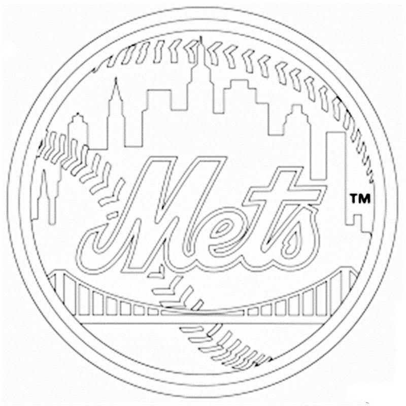 Mlb Coloring Pages Mets
