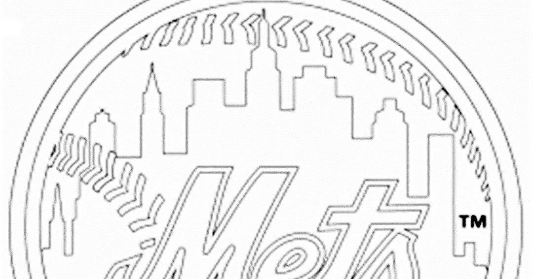 Pinto Dibujos: Escudo de los Mets de Nueva York para colorear